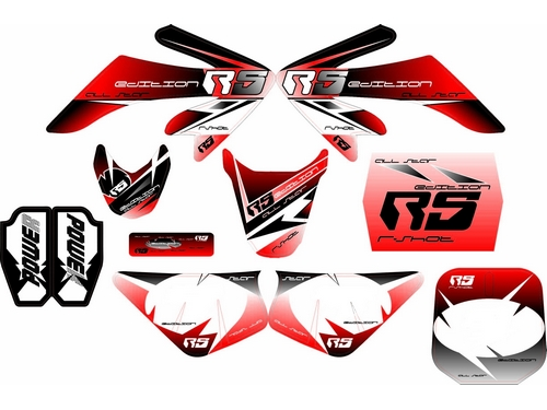 kit deco dirt bike r crf carenage plastique